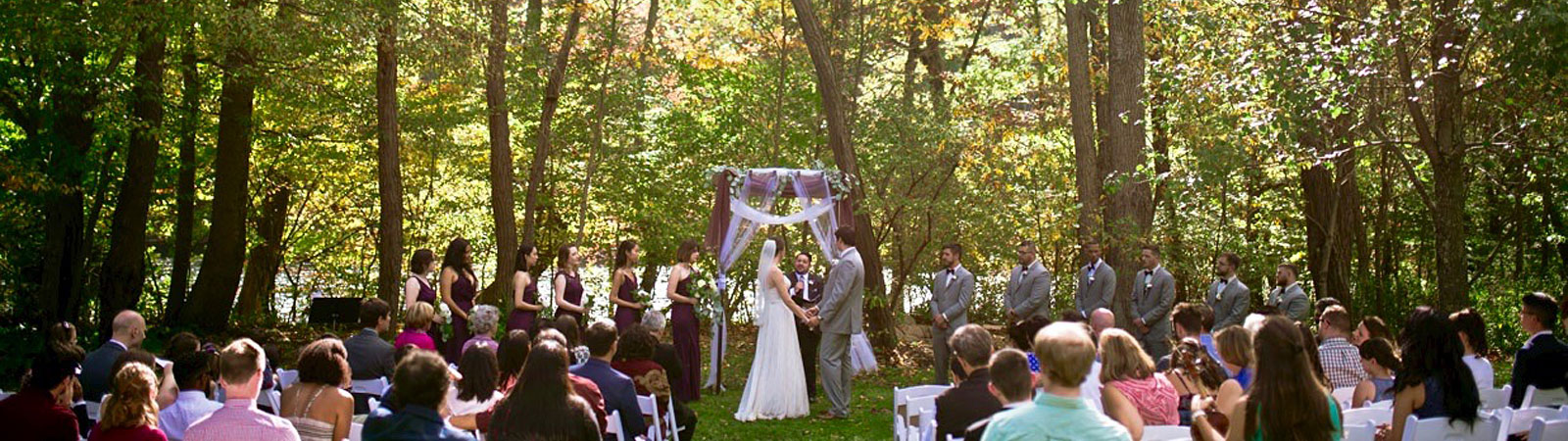 large outdoor wedding